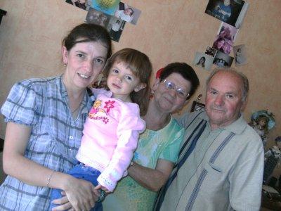 mes beaux parents ma femme et ma fille
