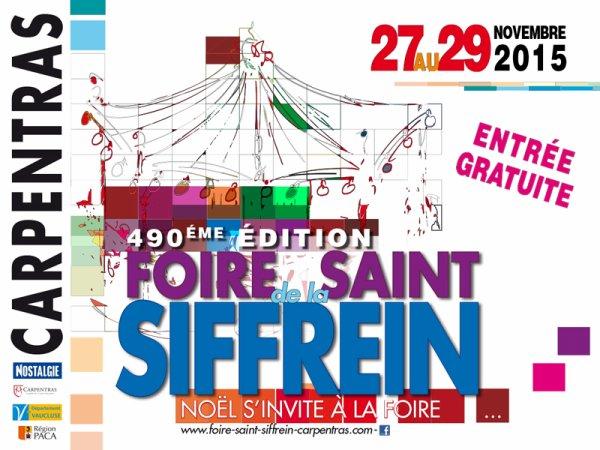 la Foire de la Saint Siffrein à Carpentras du 27 au 29 Novembre 2015