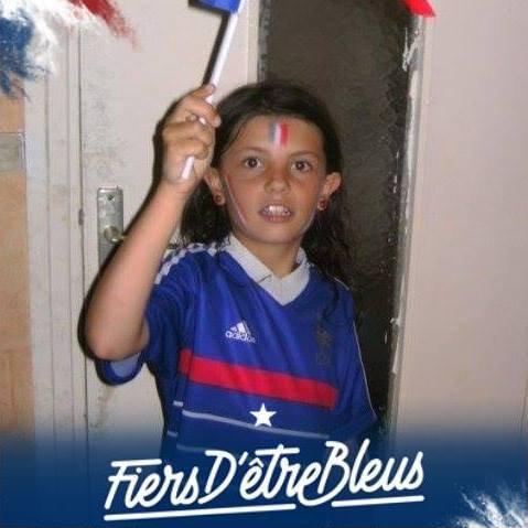 ma fille Allez les Bleus