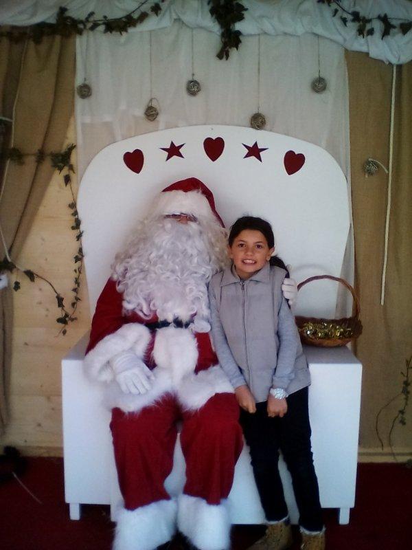 ma fille et le père Noël