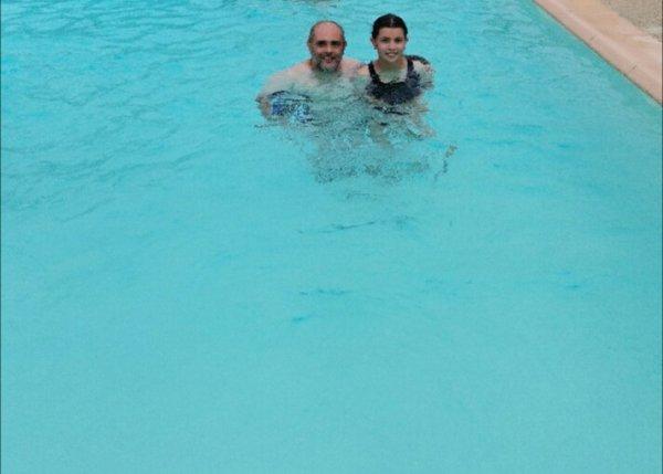 Moi et ma fille La piscine