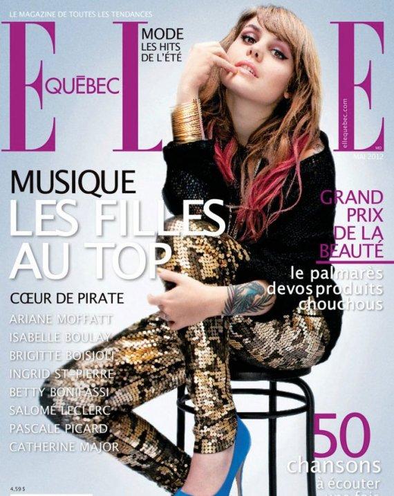"""Son interview dans """"Elle Québec"""" !"""