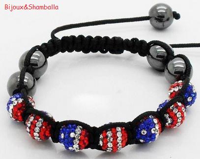 Produit n'13 : Shamballa flag USA