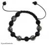 Produit n'20 : Shamballa Hématites noir + perles