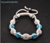 Produit n'22 : Shamballa Blue and white