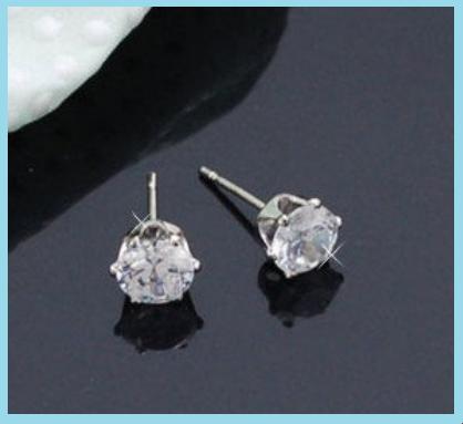 Produit n' 82 ; Boucle d'oreille Faux Diamants