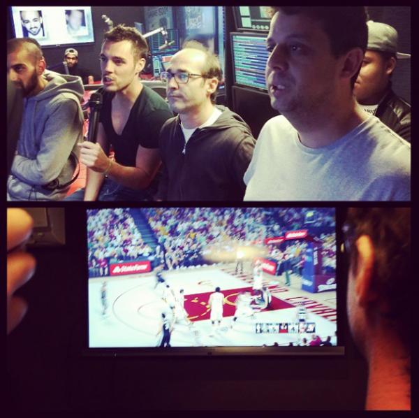 Test du jeu NBA2K15 en direct dans l'émission !