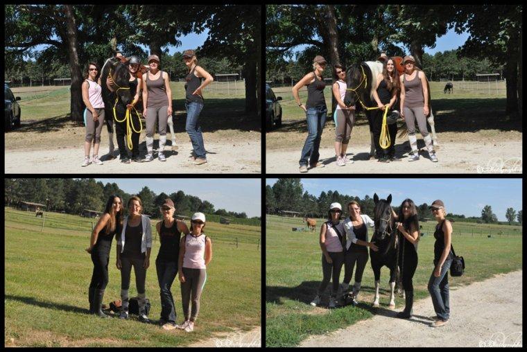 22 août 2012 : Visite de Natalia, Pénélope et Anne-Claire