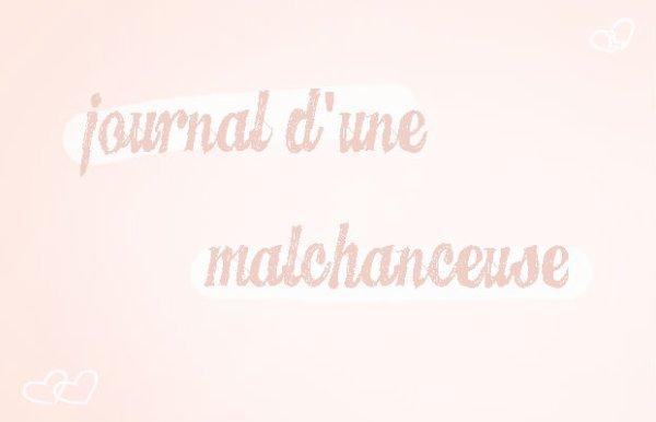 Journal d'une malchanceuse.