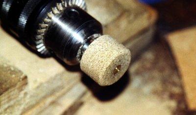 Trucs et astuces: Montage de  canne: Talon de canne en liège aggloméré
