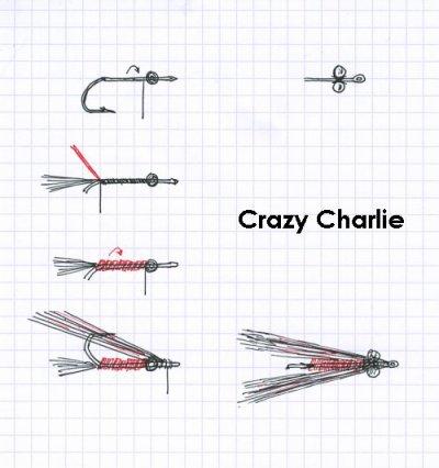 Les montages de mouches: Crazy Charlie