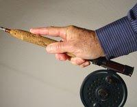 Lancer mouches:  Prise en main de la canne