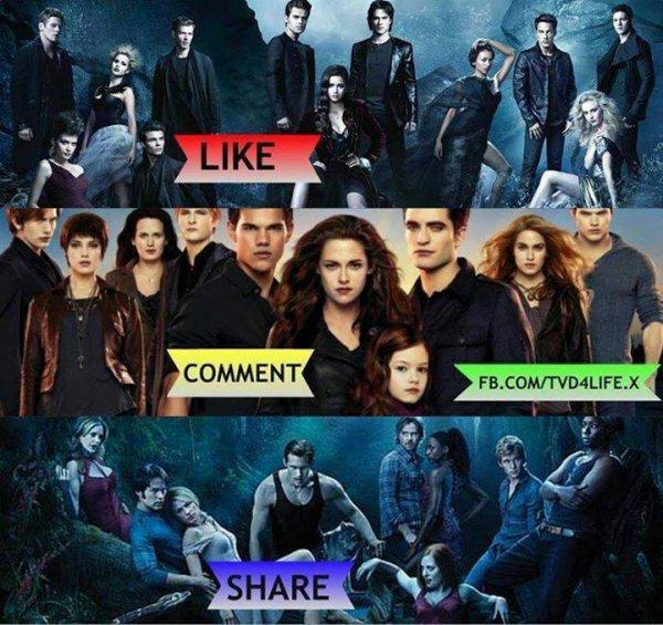 Elle sont super toute les trois mais je préfére quand même Vampire Diaries <3