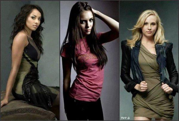 Bonnie, Elena, Caroline