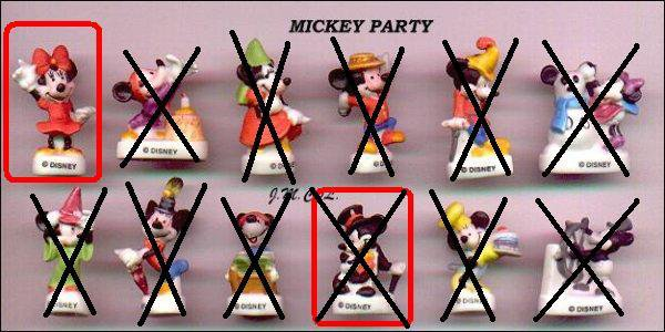 mickey party mat