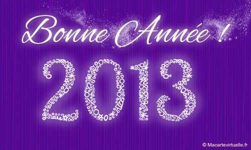 Bonne année 2013 et ouais déjà