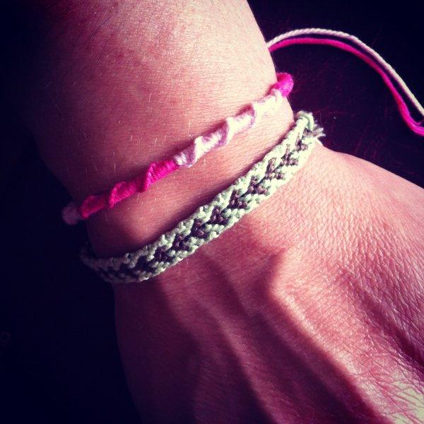 Bracelet coeur (3¤) & Bracelet torsadé (2¤)