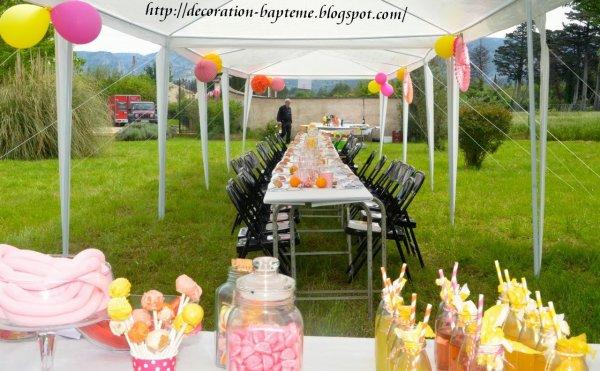Decoration Bapteme Orange Rose Jaune , Blog de deco,bapteme