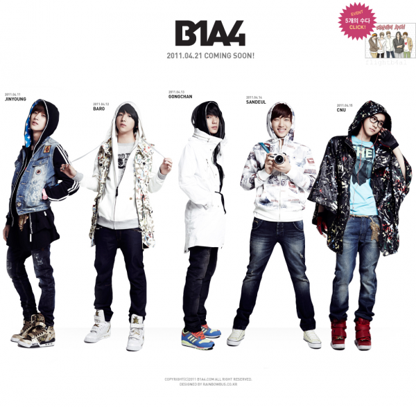 MON GOUPE PREFERE: B1A4
