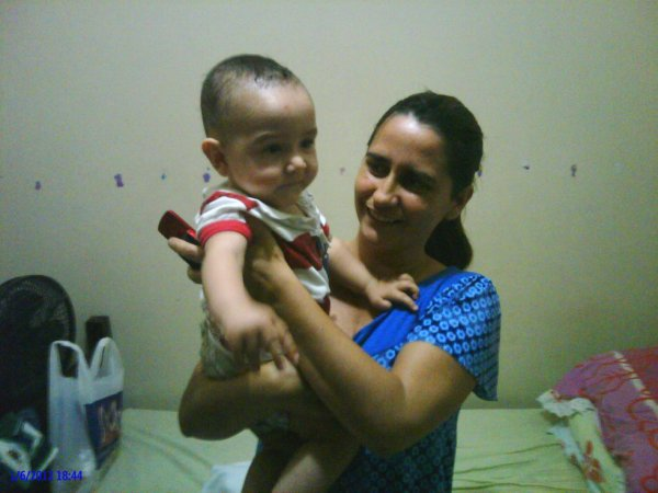 my son !and his mother!