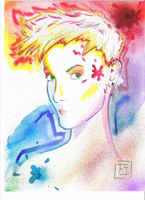 La dame aux couleurs