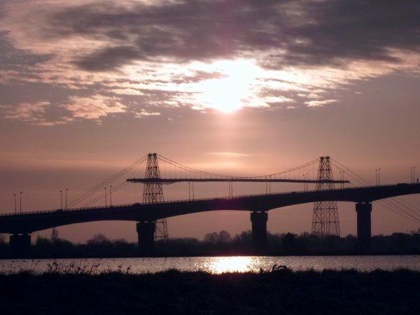 Le pont transbordeur et le viaduc de martrou à Rochefort