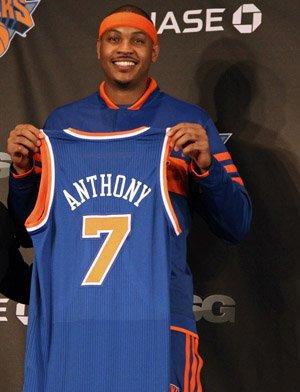 Carmelo Anthony transféré des Nuggets de Denver aux Knicks de NewYork.