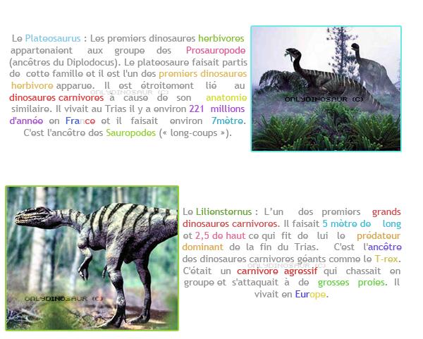 Les premiers dinosaures.
