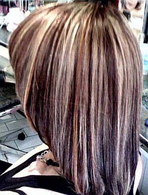 cheveux long meche blond et chocolat coiffures populaires. Black Bedroom Furniture Sets. Home Design Ideas