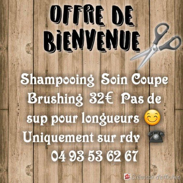 OFFRE DE BIENVENUE / LES DAYAKS COIFFURE