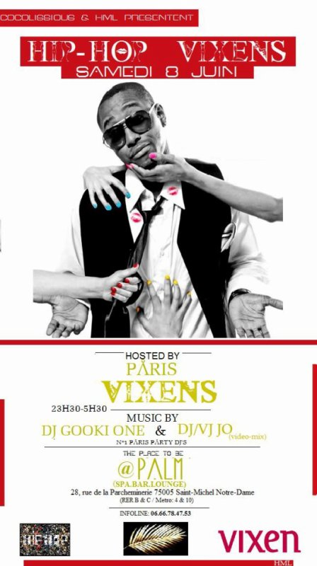 Le 8 JUIN 2013 Sa ce Passe HIP-HOP VIXENS PARTY SUR PARIS AVEC MOI DJ JO ( Vj Mix video ) / Dj GookiOne