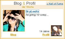 Blog&Profil der Woche  *