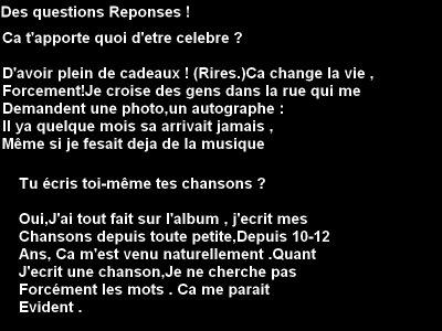 Des questions Reponses !