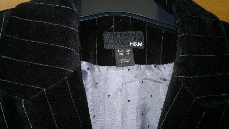 Veste H&M velours taille 38 : 20 ¤