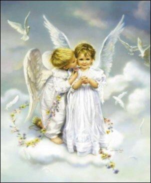 Bon réveillon avec les anges mon bébé