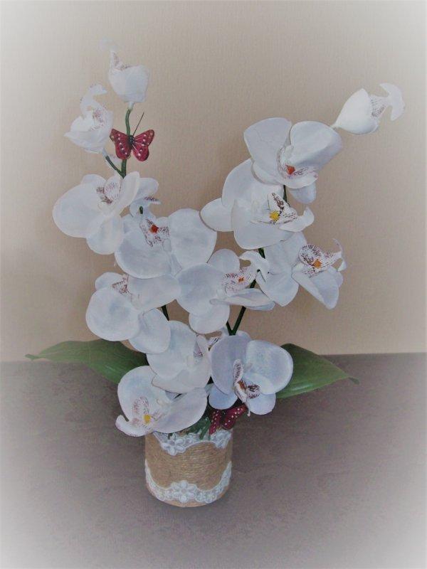 compo floral orchidée