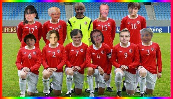 equipe fémine de foot