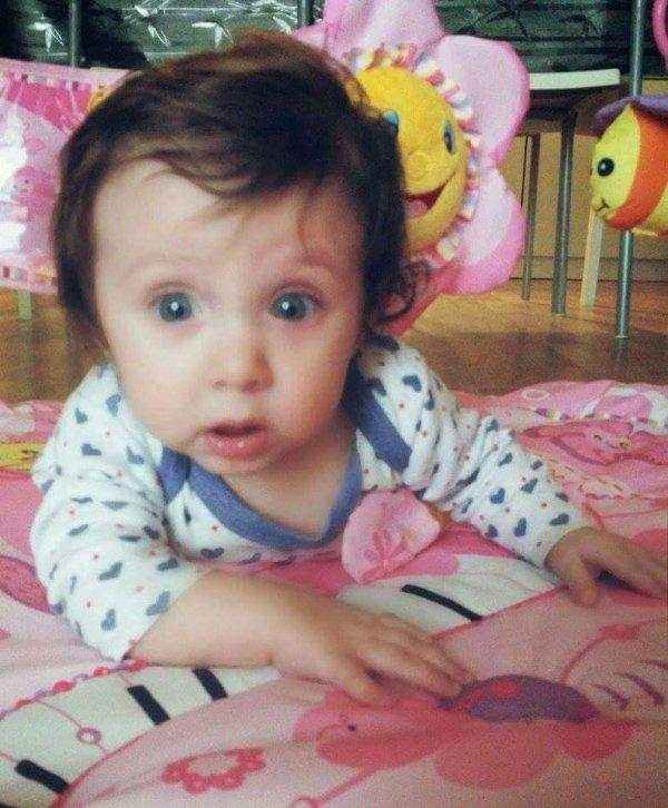 Mon ange Elena 4 mois 1/2 Ti amo Nonna