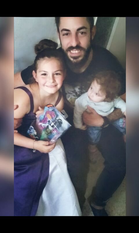 Mon fils Gino avec mes deux Anges Giuliana et Elena