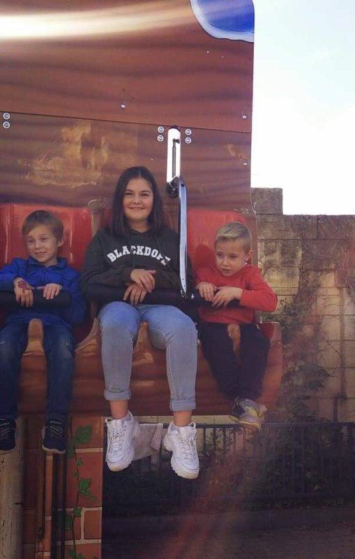 Bellewaerde 20.10.2018 avec ma fille mes petits enfants et ma collégue