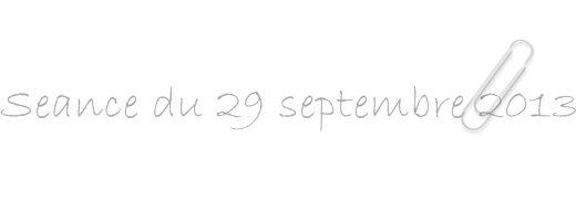 Séance septembre 2013