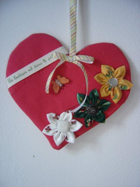 poupée torchon +un panier et un coeur
