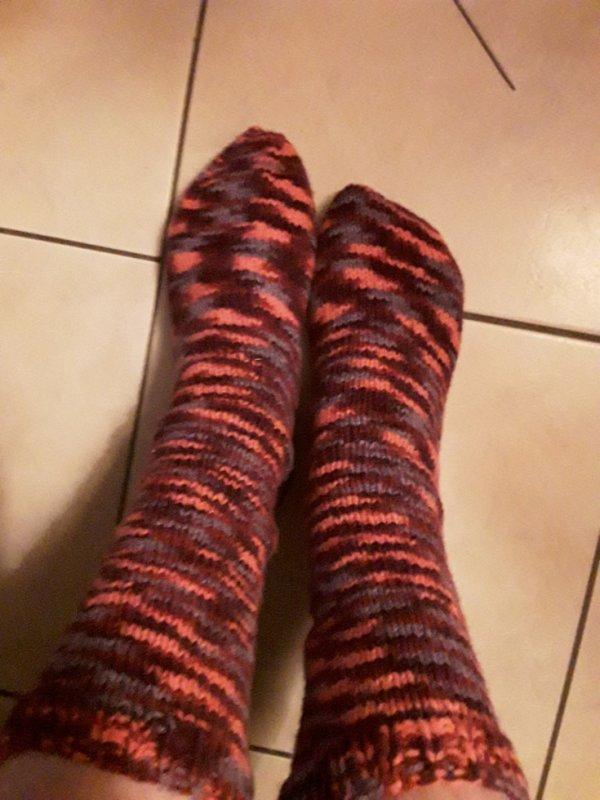 Mes chaussettes au tricot 5 aiguilles