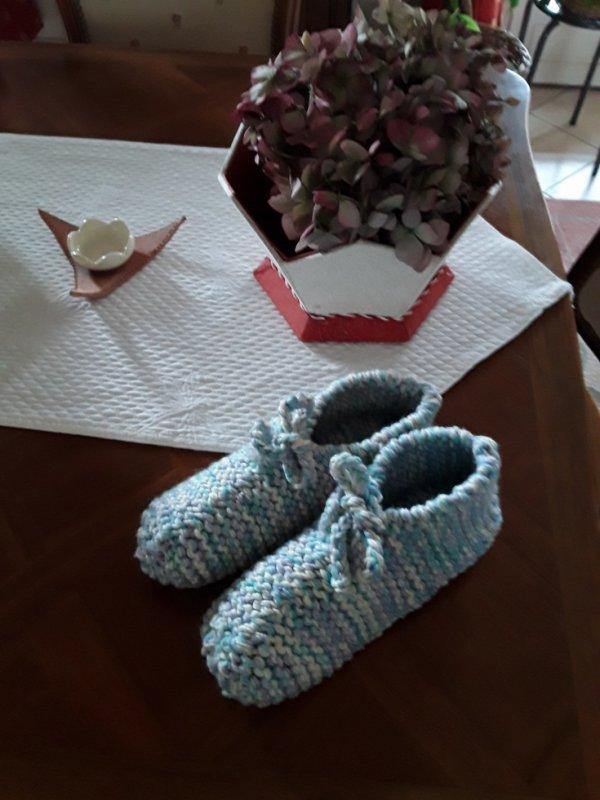 Chaussons pour ma petite-fille Manon