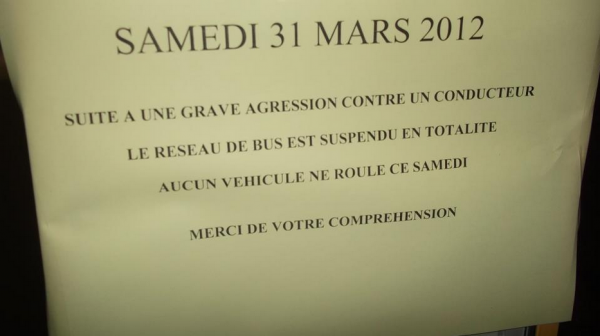 Agression bus Avignon