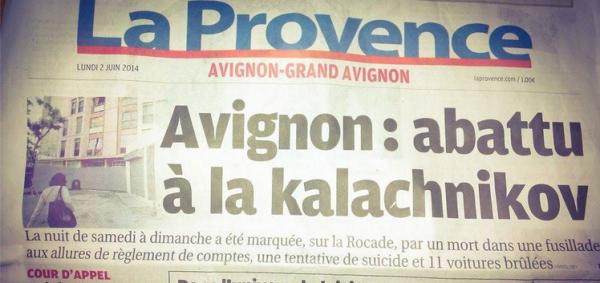 Fusillade Avignon 1 mort, 4 blessés