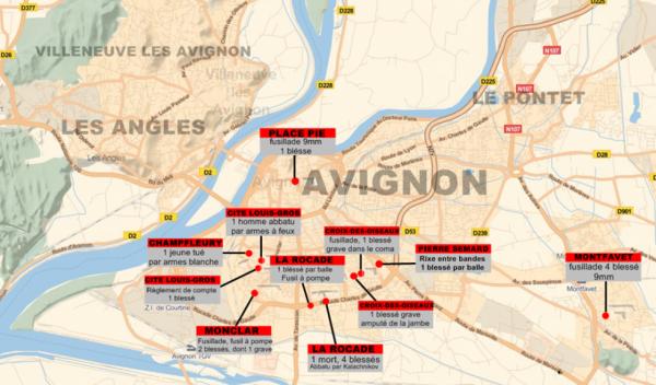 Avignon, ses règlements de compte, ses fusillades, ses meurtres (2014)