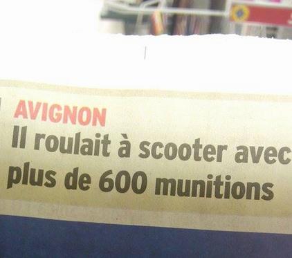 Avignon, armée, charger !