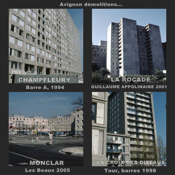 Quelques démolitions d'HLM à Avignon