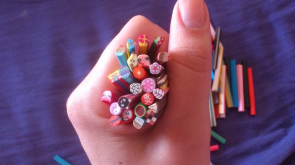 Mes canes fimo =)